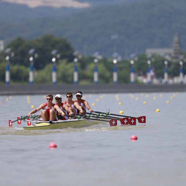Switzerland's men's quadruple sculls
